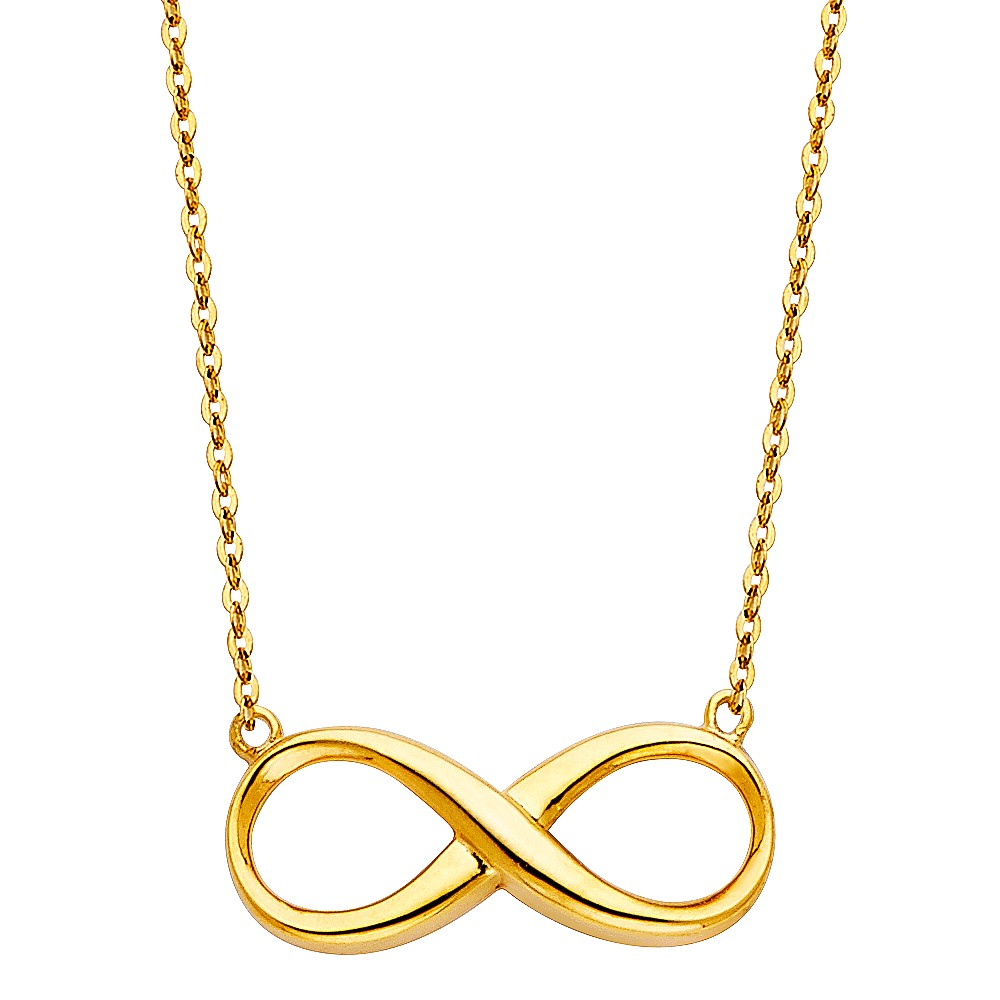 14ky Infinity Necklace 17 1 Quot Oropalace